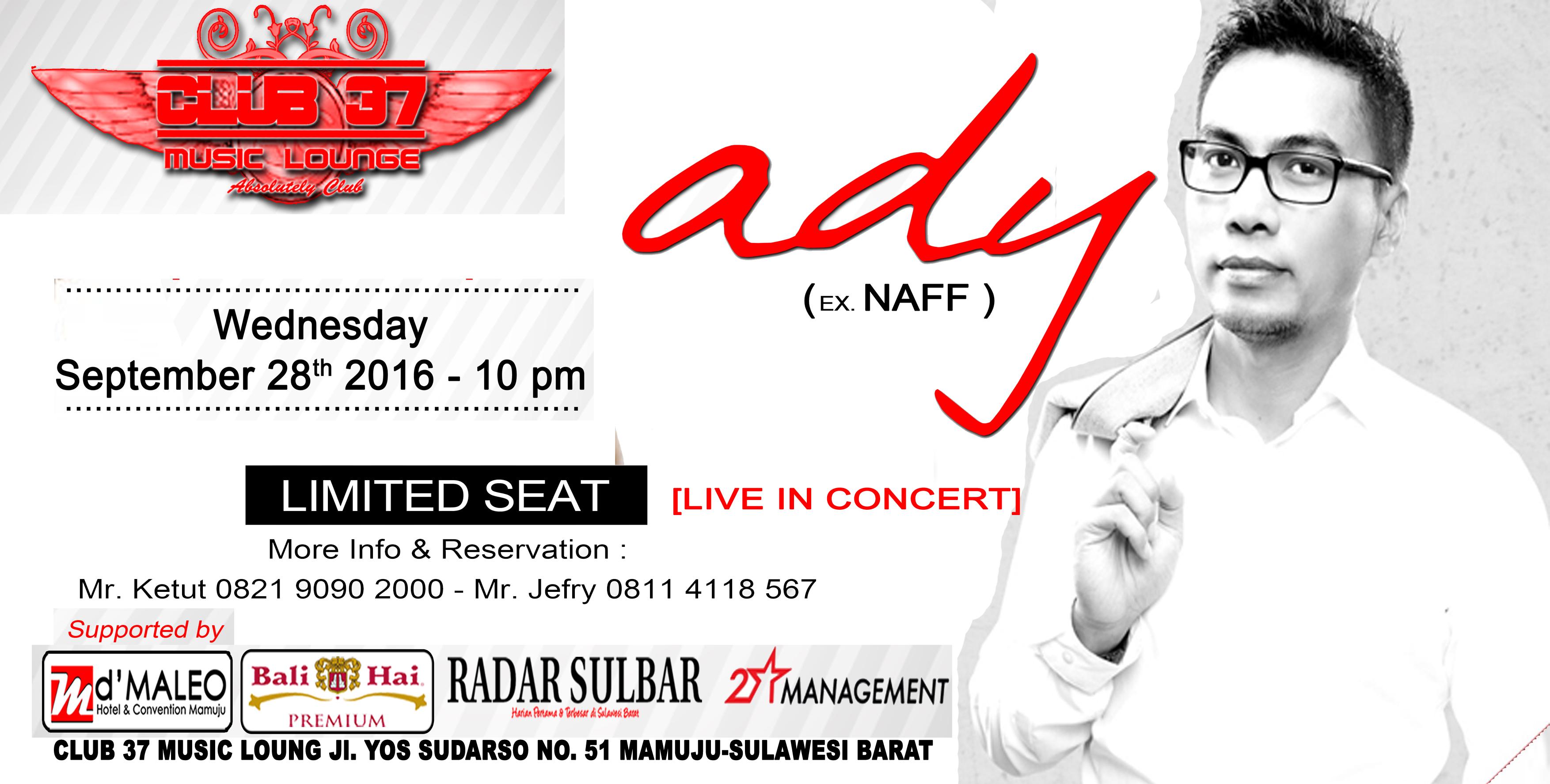Ady Ex Vokalis Naff , Live In concert di Mamuju