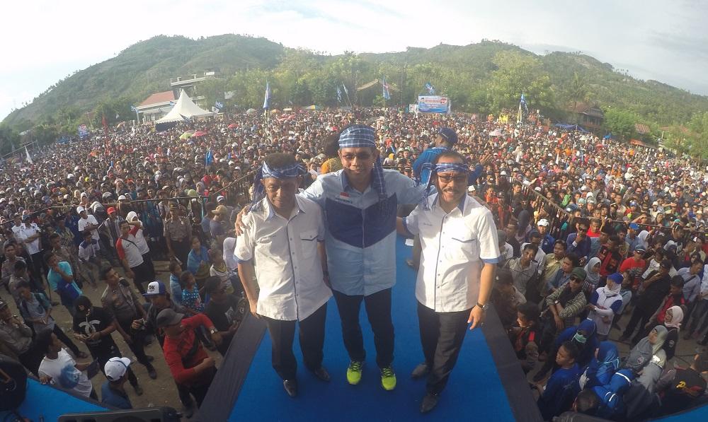 Ribuan Massa Tumpah Ruah di Deklarasi SDK-Kalma