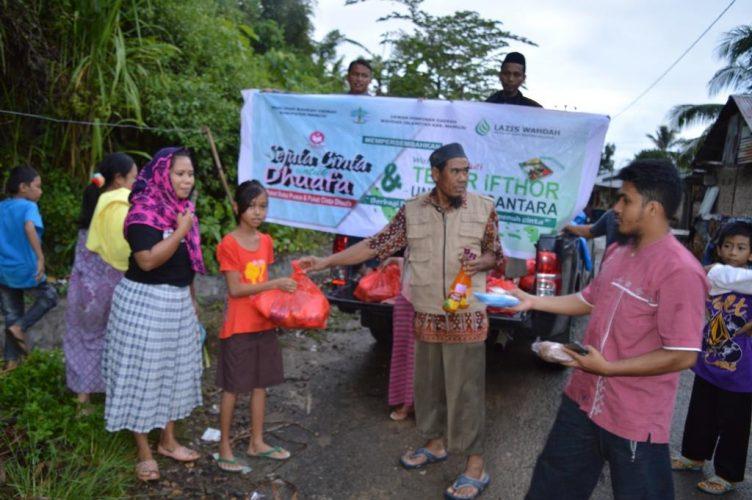 Wahdah Islamiyah Mamuju, Tebar 800 Paket Sembako dan Paket Berbuka Puasa
