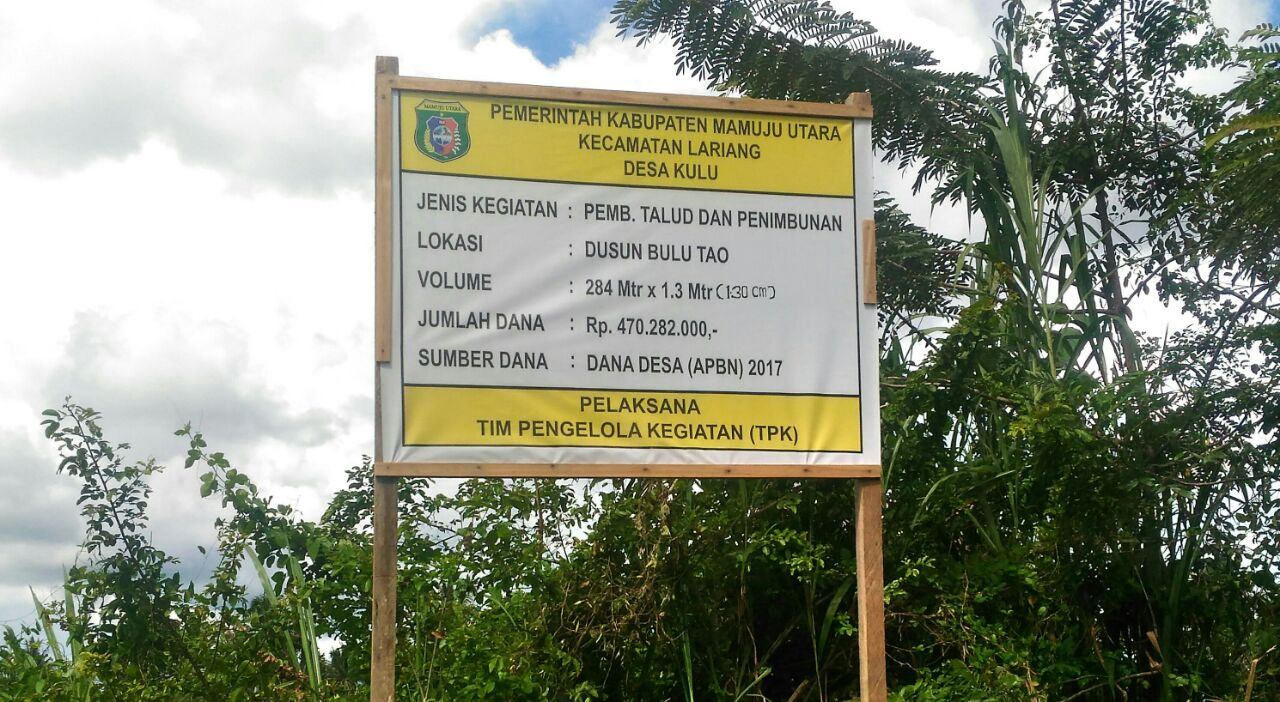 Pembangunan Talud Di Desa Kulu dinilai Tidak Wajar