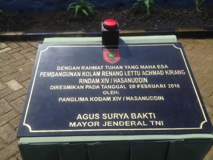 Kolam Renang Rindam XIV Hasanuddin Sandang Nama Achmad Kirang
