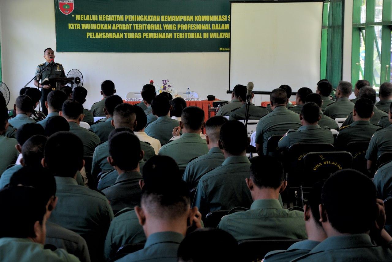 Prajurit KOREM 142 Tatag Ikuti Peningkatan Kemampuan Komsos