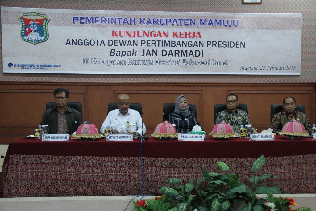 Dewan Pertimbangan Presiden Kunjungan Kerja Di Mamuju
