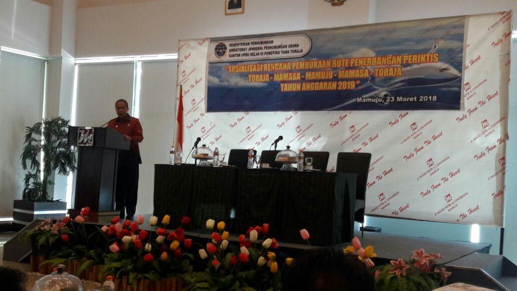 Rute Penerbangan Mamuju - Mamasa - Toraja Segera Dibuka