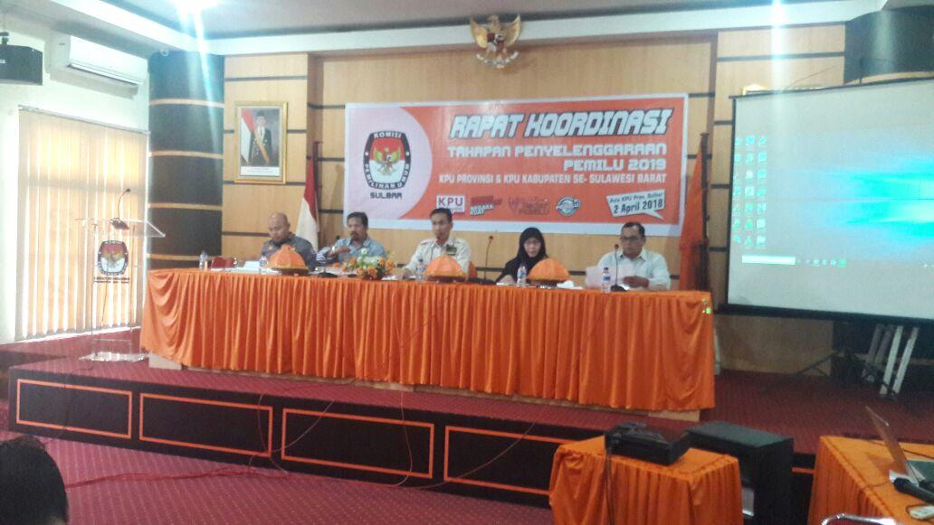 KPU se-Sulbar Rapat Koordinasi Tahapan Pemilu 2019