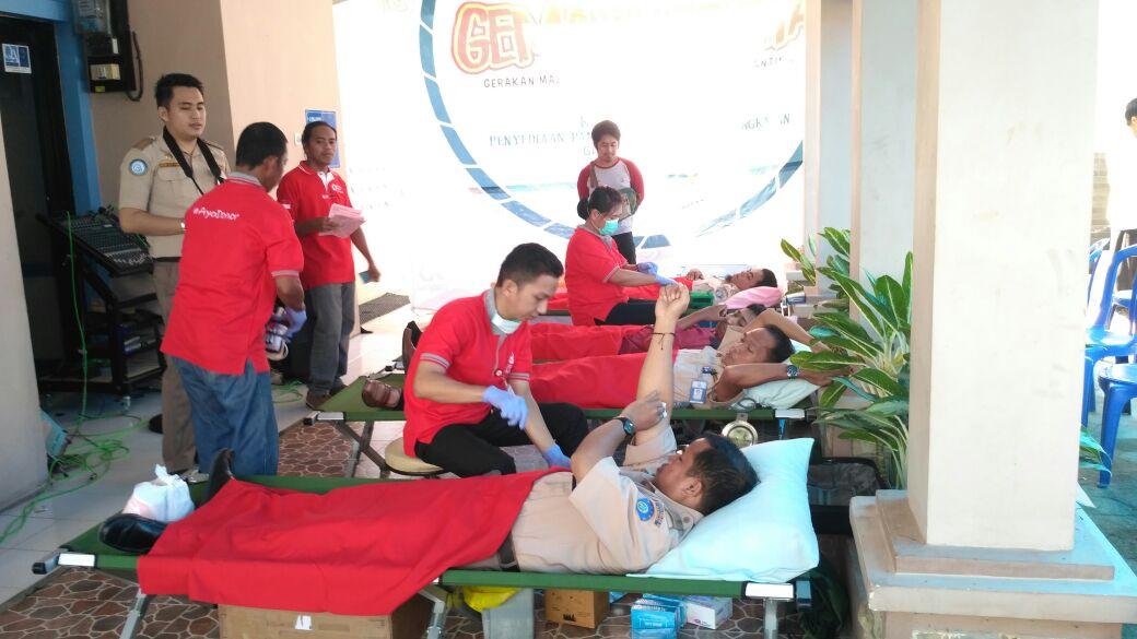 Bulan Bakti Karantina dan Mutu Hasil Perikanan, SKIPM Mamuju Gelar Donor Darah