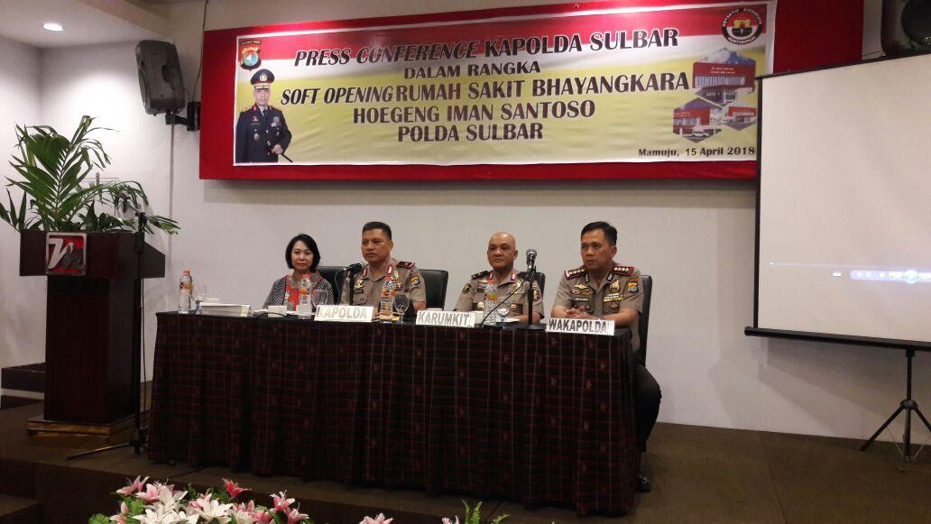Soft Opening RS Bhayangkara Polda Sulbar Membuka Pelayanan Kesehatan Geratis
