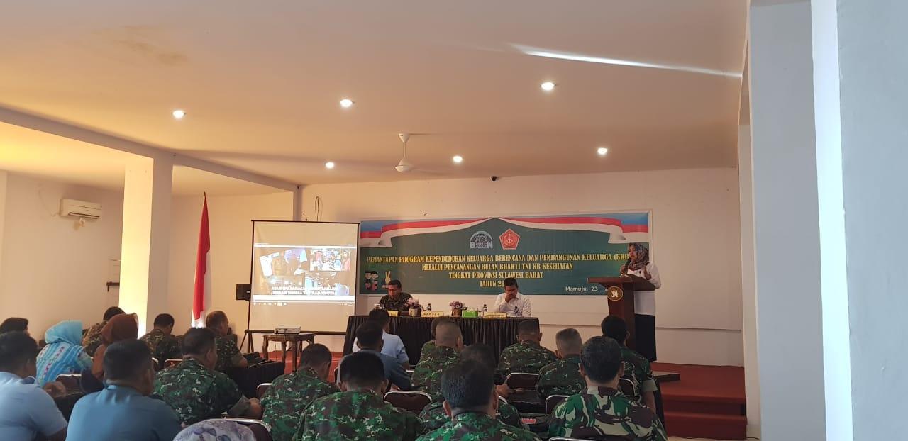 BKKBN Sulbar Rangkul TNI Sukseskan Program KB