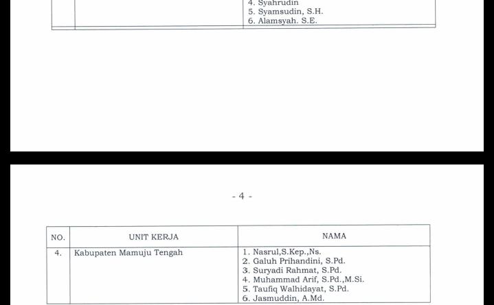 Berikut Nama-nama Komisioner KPU Kabupaten yang dinyatakan Lulus di Sulbar