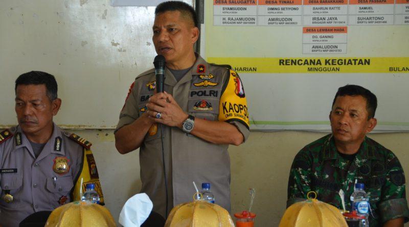 Pesan Kapolda Sulbar Polsek Budong Budong Jaga Sinergitas.