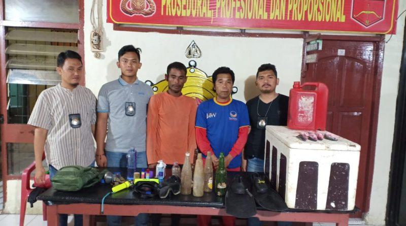 Ngebom, Dua Nelayan Asal Karampuang Dibekuk Polisi
