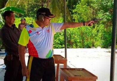 Danrem 142/Tatag Ikuti Lomba Tembak Eksekutif Porprov Majene