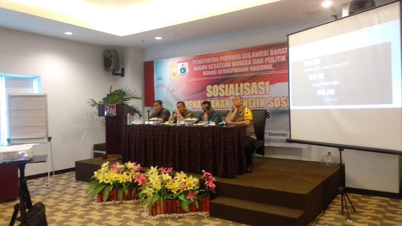 Kesbangpol Sulbar Gelar Sosialisasi Penanganan Konflik Sosial