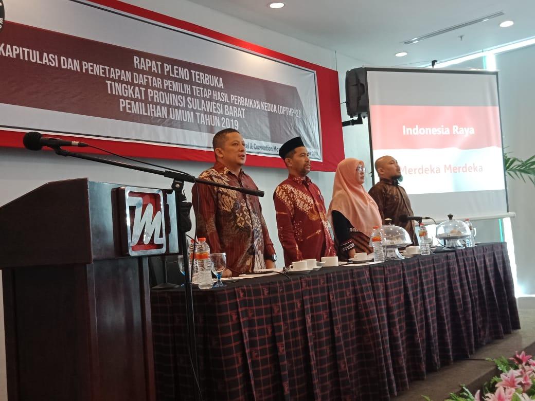 KPU Sulbar Tetapkan DPTHP-2 Sebanyak 865.244