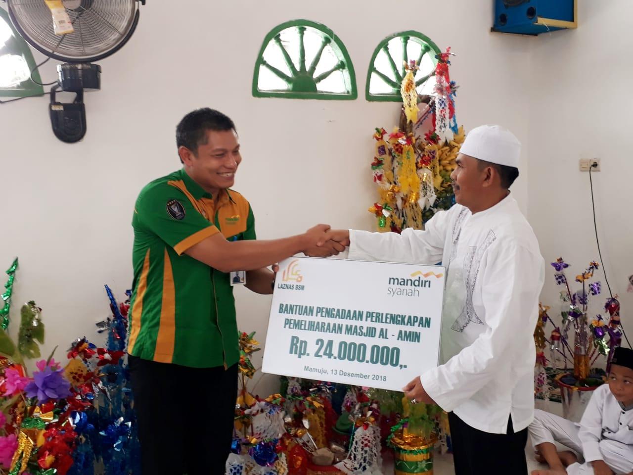 BSM Cabang Mamuju Suntik Bantuan Rp. 24 Juta ke Masjid Al-Amin
