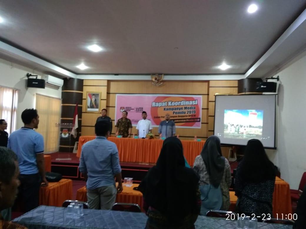 Anggaran Kampanye Calon DPD di Media Dibiayai Oleh KPU Sulbar