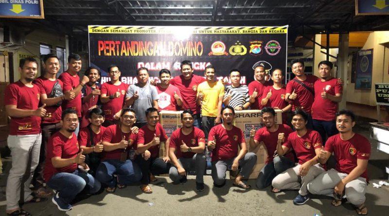 Meriahkan Hari Bhayangkara ke 73 Polres Mamuju Gelar Pertandungan Domino
