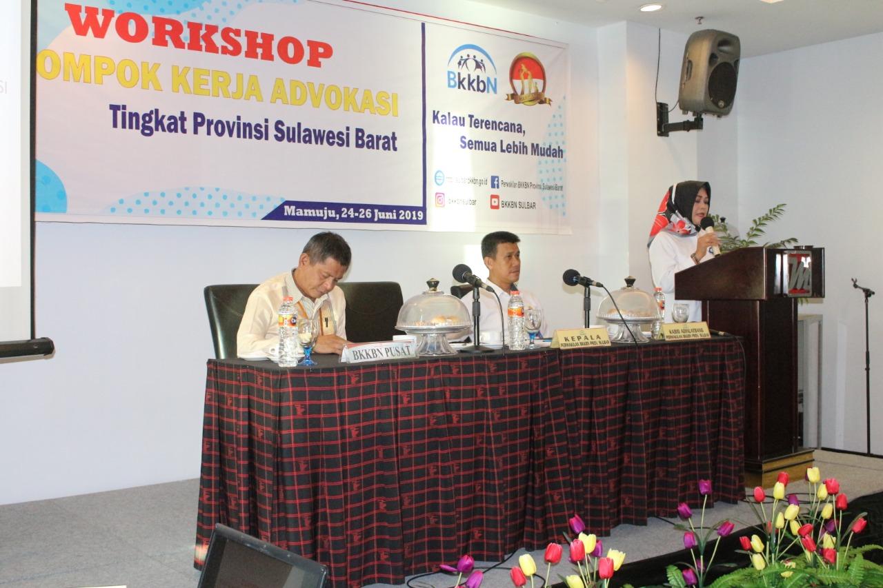 BKKBN Sulbar Gelar Workshop Kelompok Kerja Advokasi