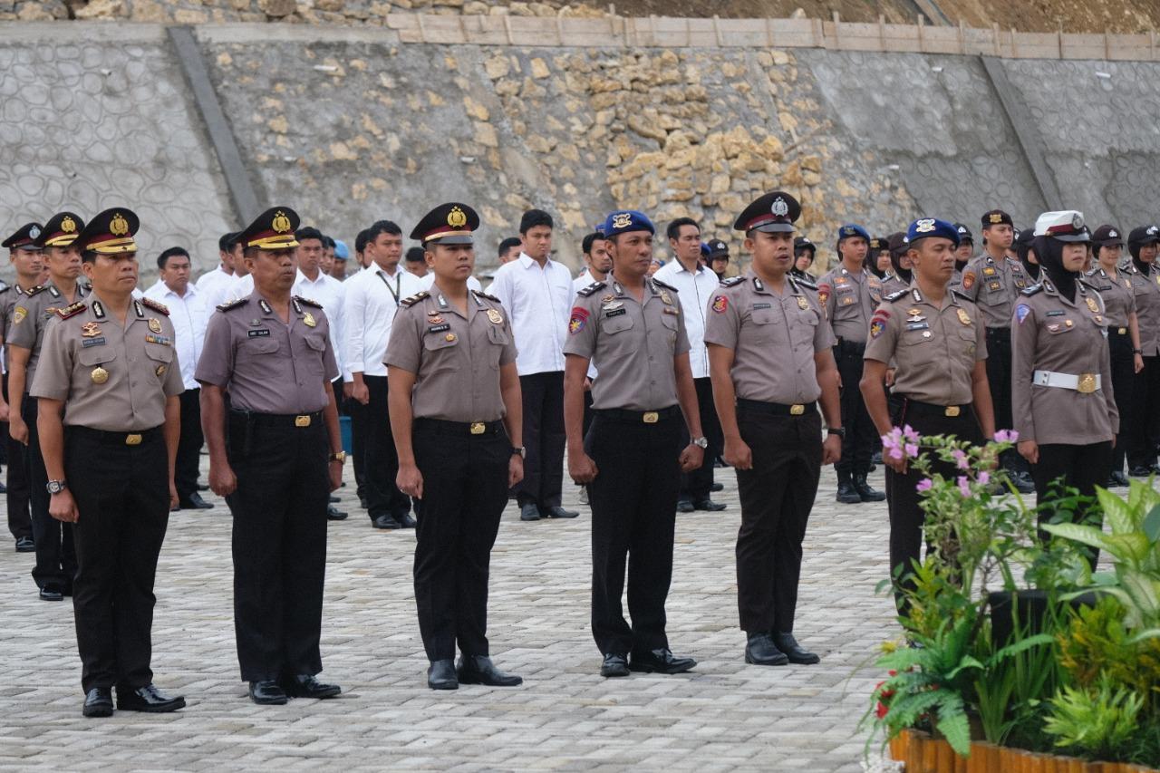 Korps Raport, 149 Personil Polda Sulbar Hari ini Dinaikkan Pangkatnya.