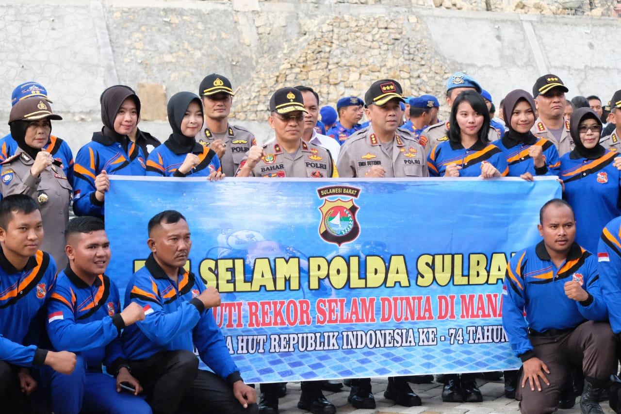 22 Penyelam Polda Sulbar Siap Pecahkan Rekor Selam di Manado