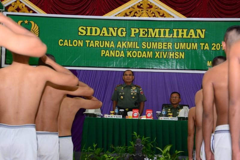 Kodam XIV/Hasanuddin Gelar Sidang Pemilihan Taruna Akmil