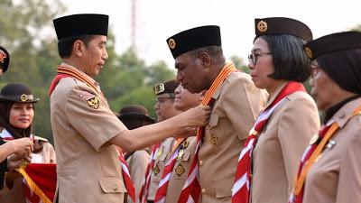 Presiden RI JOKO Widodo Pembina Upacara Hari Pramuka Ke 58