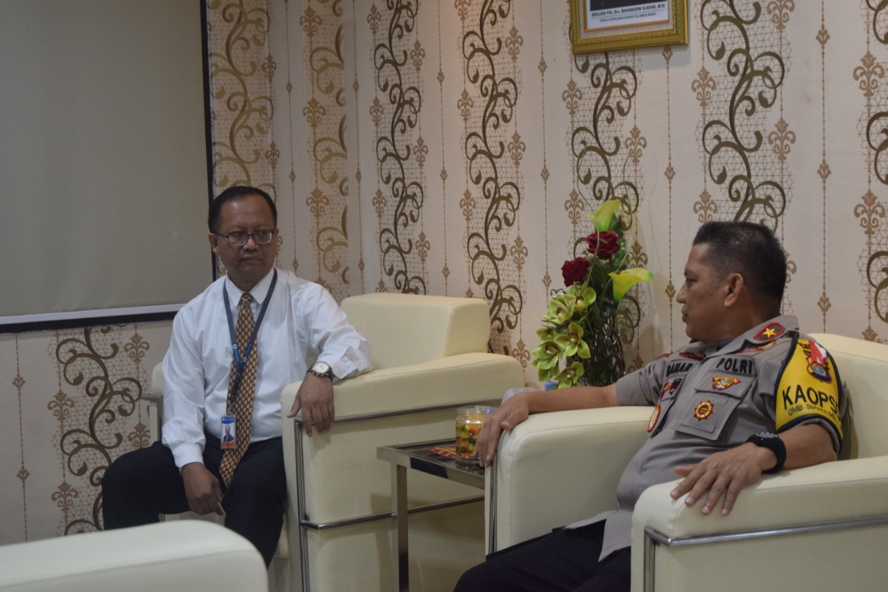 Kapolda Sulbar Terima Kunjungan Kepala Perwakilan BI Sulbar