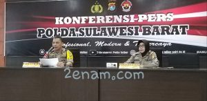 Polda Sulbar Gelar Konferensi Pers Pengungkapan Kasus di Tiga Direktorat