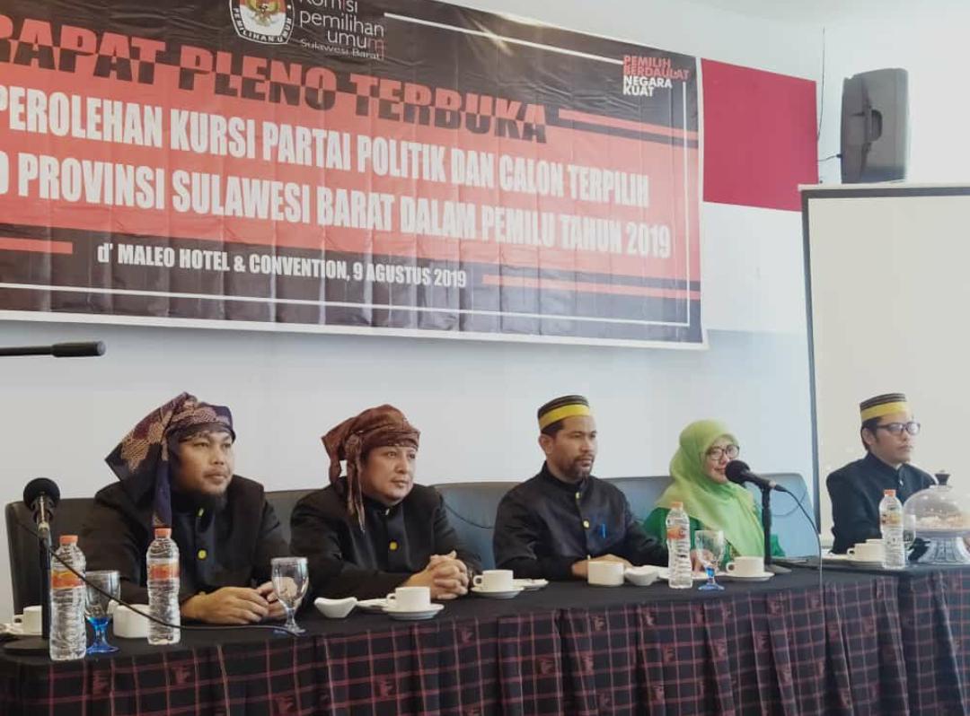KPU Sulbar Tetapkan 45 Calon Terpilih DPRD Sulbar