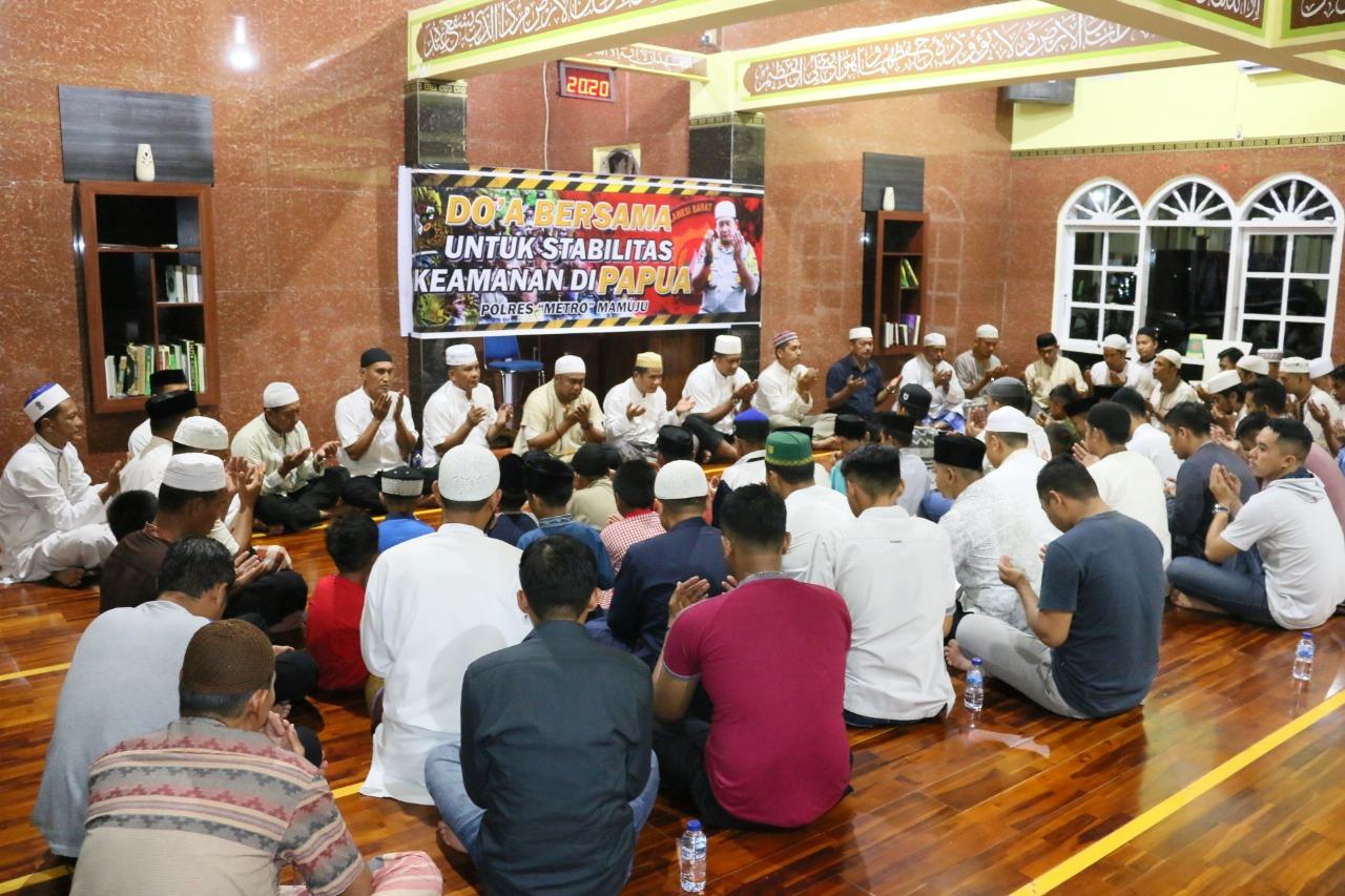 Polres Mamuju Doa Bersama Untuk Papua