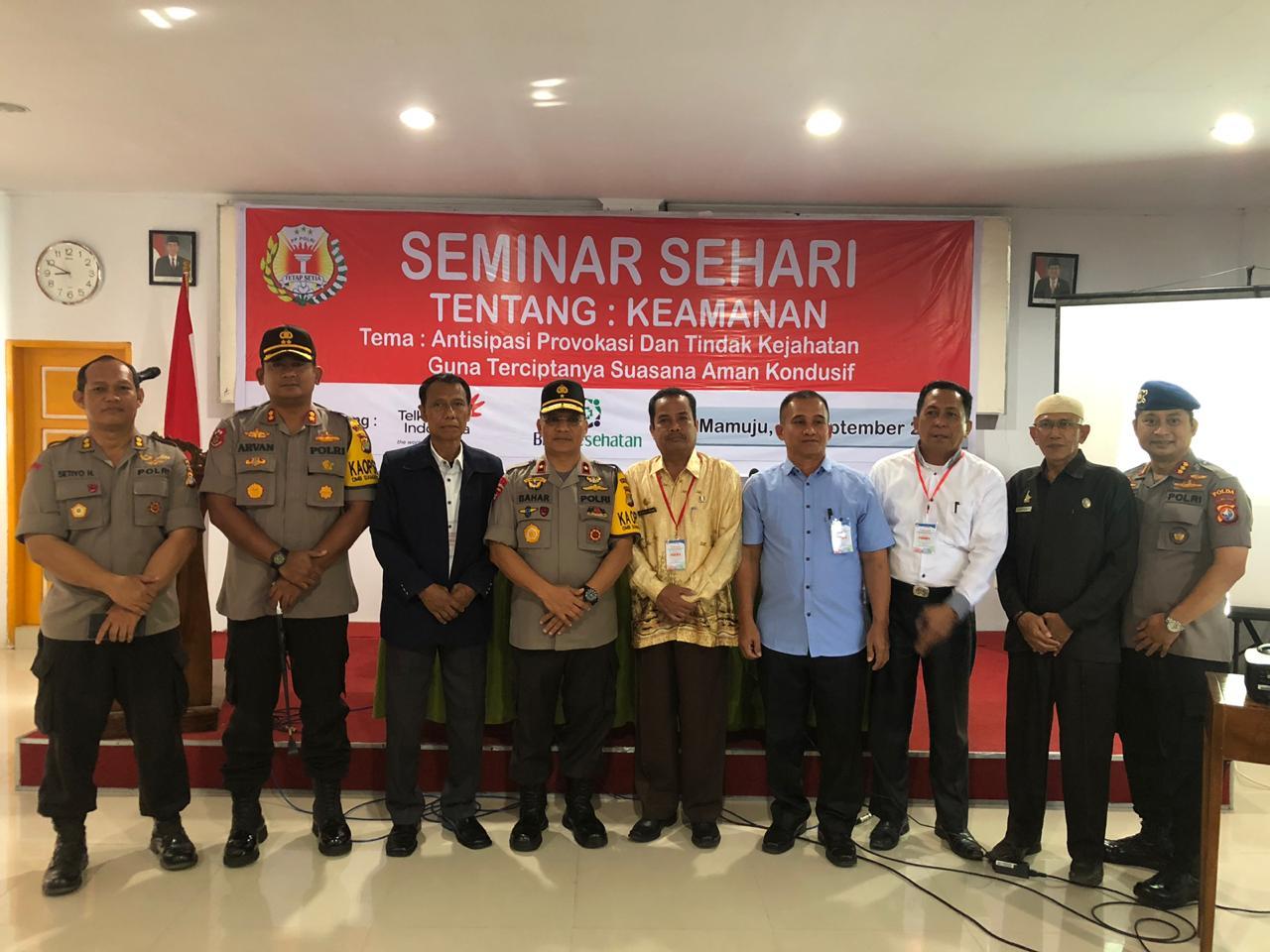 Kapolda Sulbar Subar Hadiri Seminar Sehari di Aula Stie Muhammadiyah. Polda Sulbar - Peran Polri dalam