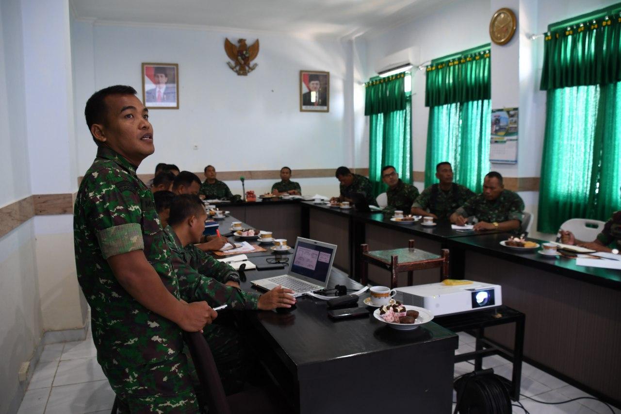 Kasi Ops Rem 142 Tatag Paparkan Rencana Kegiatan HUT TNI Ke 74
