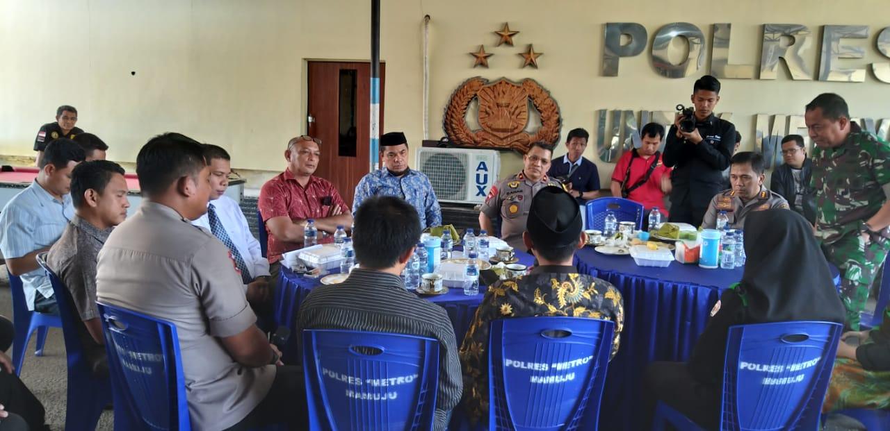Kapolda Sulbar Gelar Pertemuan Dengan Civitas Akademi se- Kabupaten Mamuju