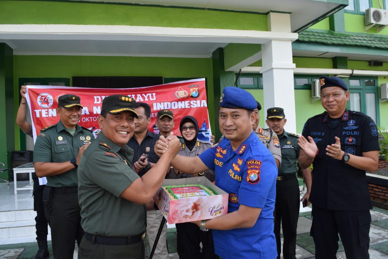 Korem 142 Tatag Dapat Surprise Dari Polda di Hari Jadi TNI Ke-74.