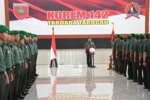 197 Prajurit TNI - AD Ikuti Tradisi Penciuman Dhuaja Korem 142 Tatag