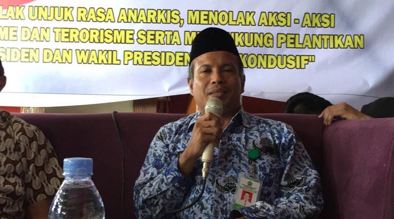 Ketua MUI Mamuju Ajak Semua Pihak Dukung Pelantikan Presiden dan Lawan Radikalisme