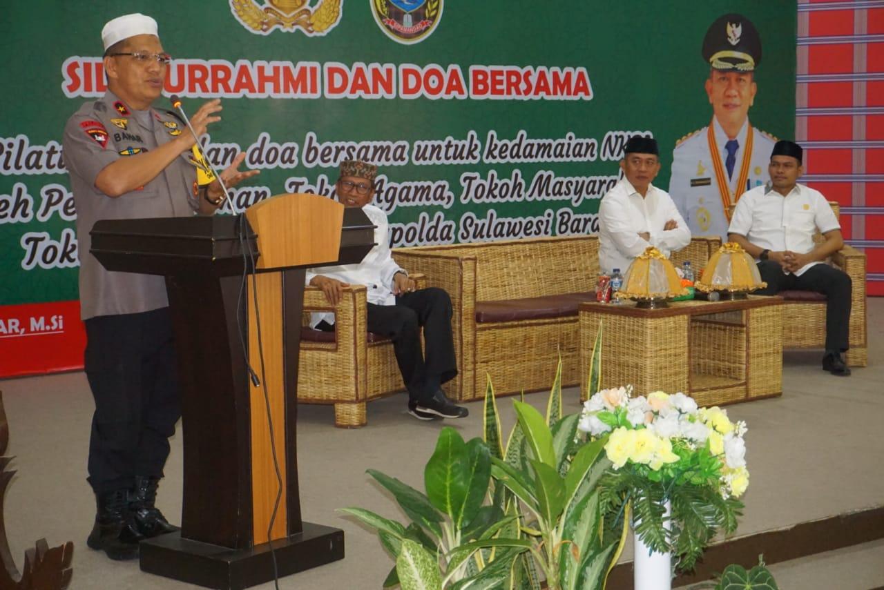 Kapolda Sulbar Hadiri Silaturahmi dan Doa Bersama Untuk Kedamaian NKRI
