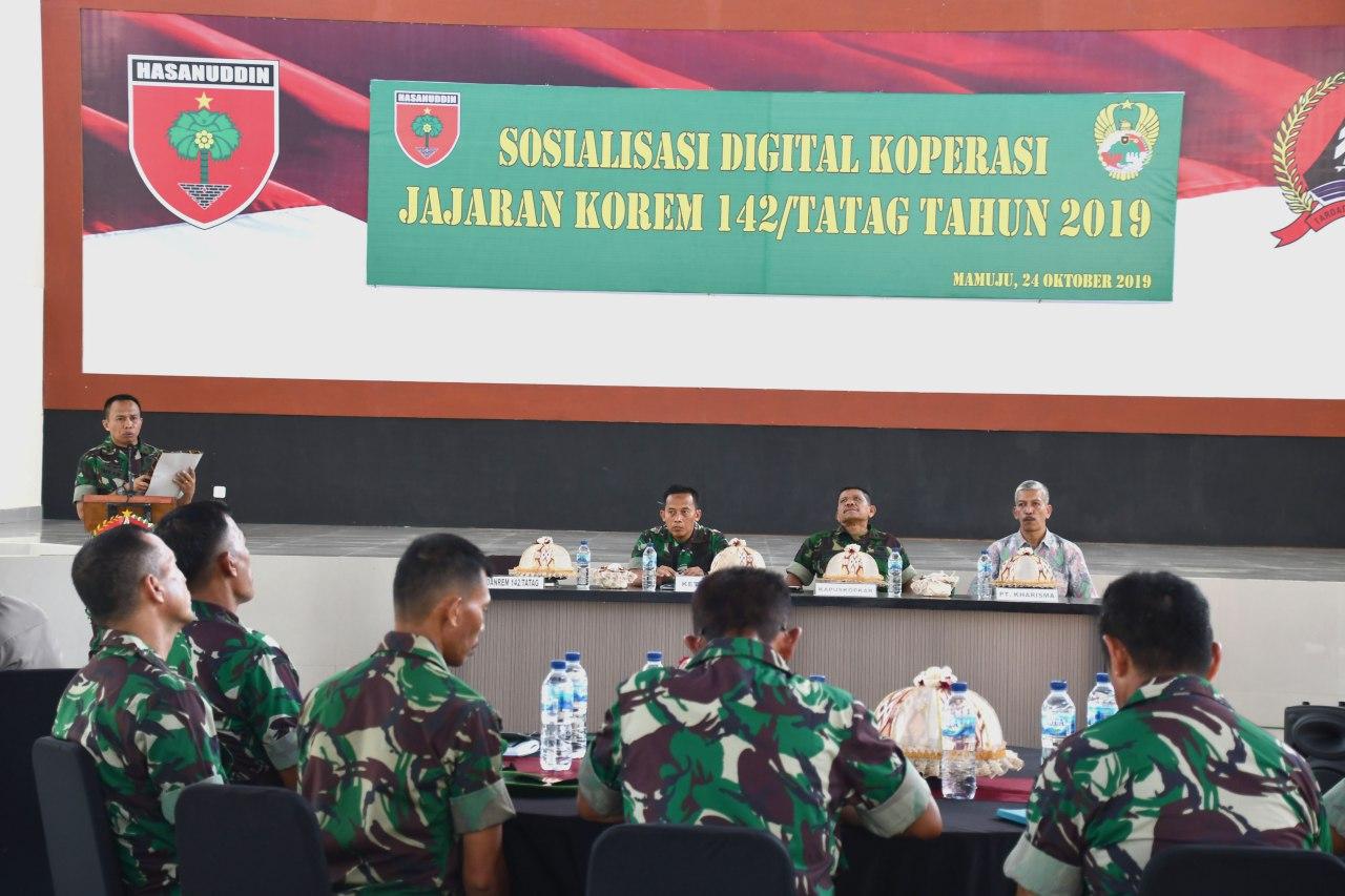 Jajaran Korem 142/Tatag Terima Sosialisasi Digitalisasi Koperasi