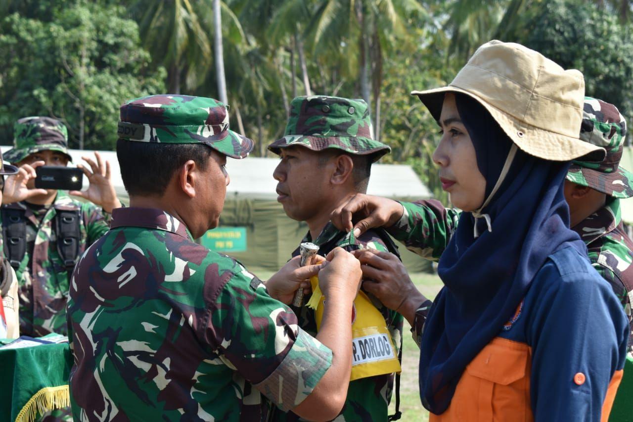 Korem 142/Tatag latihan penanggulangan bencana Alam