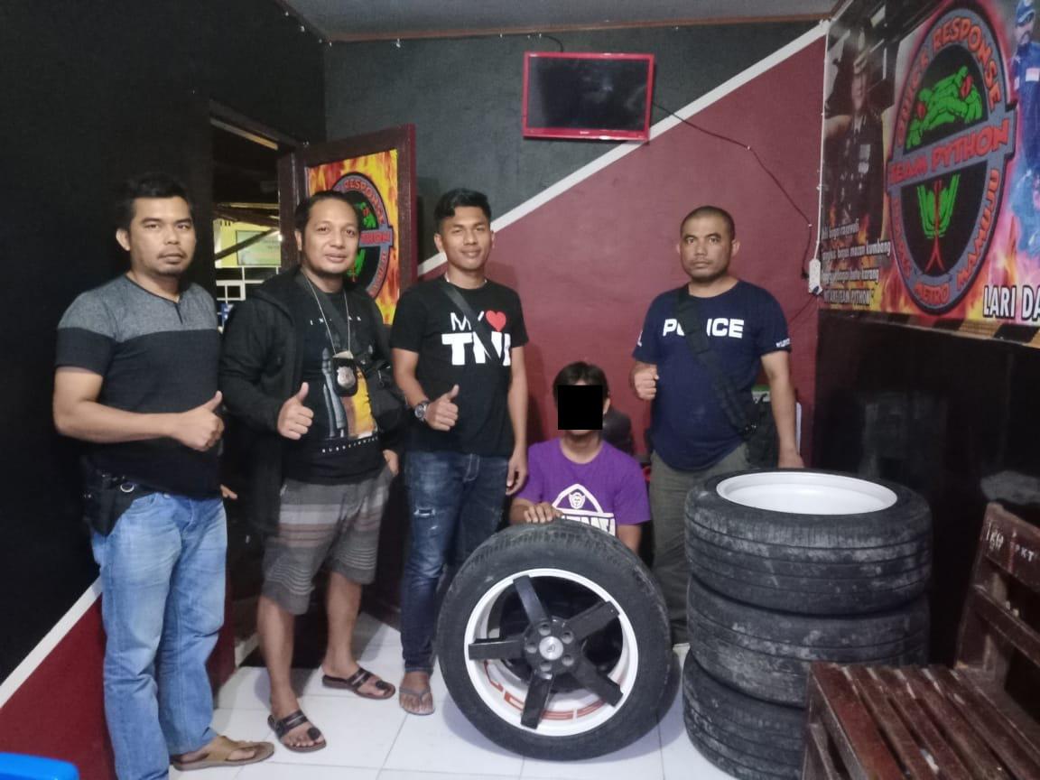 Team Python Polresta Mamuju  Ringkus Dua Pelaku Pencurian Velg Mobil