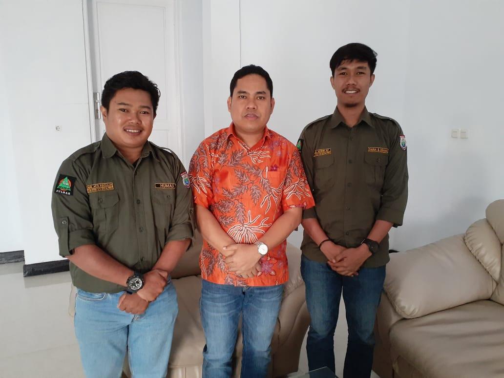 Abdul Rahim Terima Kunjungan Pengurus Mahasiswa Pencinta Alam Reinkarnasi Sulbar