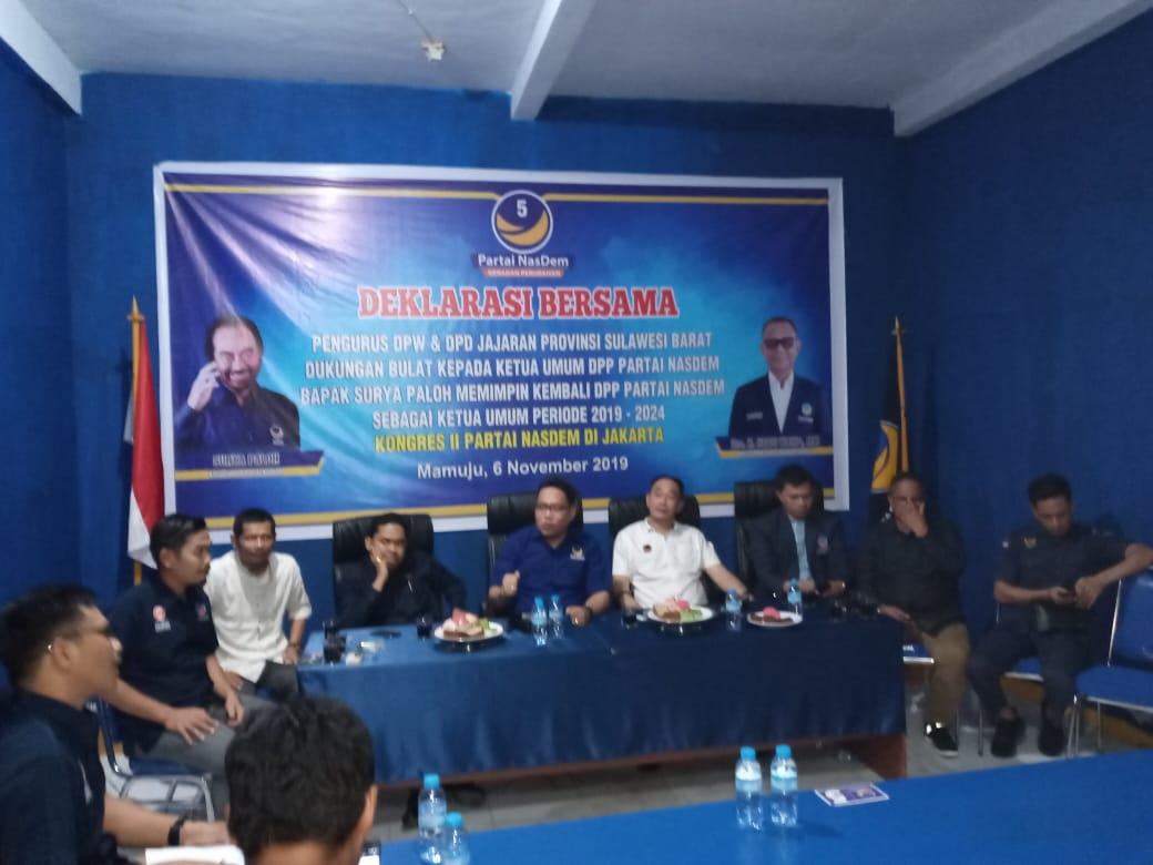 Partai NasDem Sulbar Deklarasi Dukungan Ke Surya Paloh