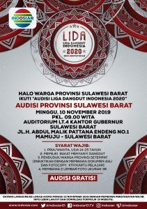 """Daftarki !!! Indosiar Kembali Audisi """"LIDA (LIGA DANGDUT INDONESIA) 2020"""" Di Sulbar"""