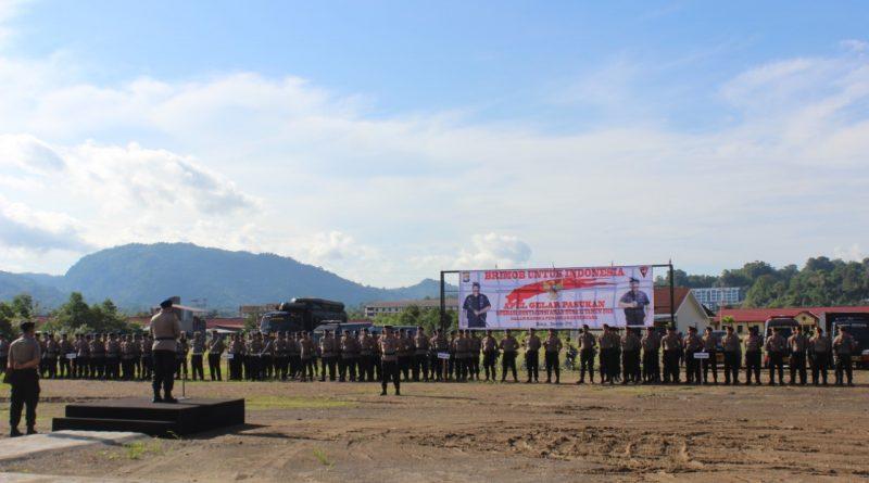 Antisipasi Bencana, Brimob Polda Sulbar Gelar Apel Pasukan Operasi Aman Nusa II 2019