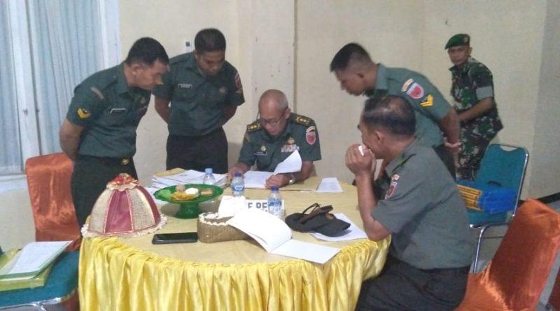 Dandim 1418/Mamuju Kolonel Inf Suyitno, S.I.P menerima kunjungan kerja Tim Post Audit Itdam XIV/Hsn TW-I 2020