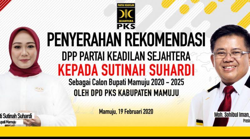 Malam ini PKS Serahkan Rekemondasi DPP Kepada Sutinah Suhardi