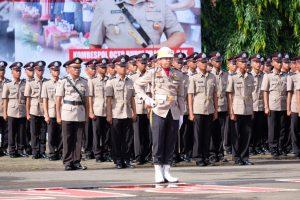Kapolda Sulbar Hadiri Penutupan Pendidikan dan Pelantikan Diktukba di SPN Batua Makassar