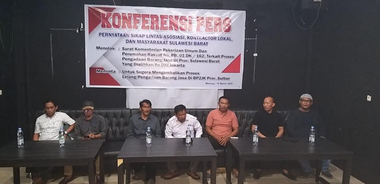 lintas Asosiasi,kontraktor lokal Keras Menolak  Proyek Sulbar Di Lelang Di Jakarta