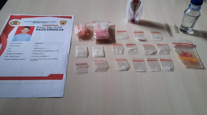 Cita-cita Jadi Polisi Terhenti Akibat Terciduk Transaksi Narkoba