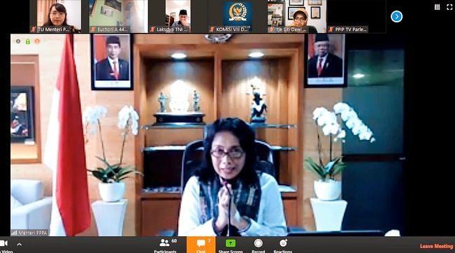 Rapat dengan Komisi VIII DPR RI, Menteri PPPA Refocusing Kegiatan dan Anggaran Tangani COVID-19